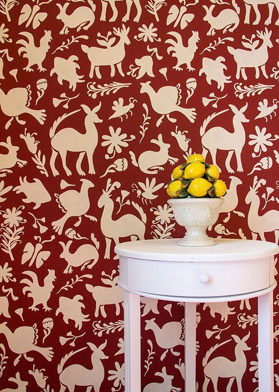 Mexican Otomi Folk Art Animal Wall Design Large Wall Stencils