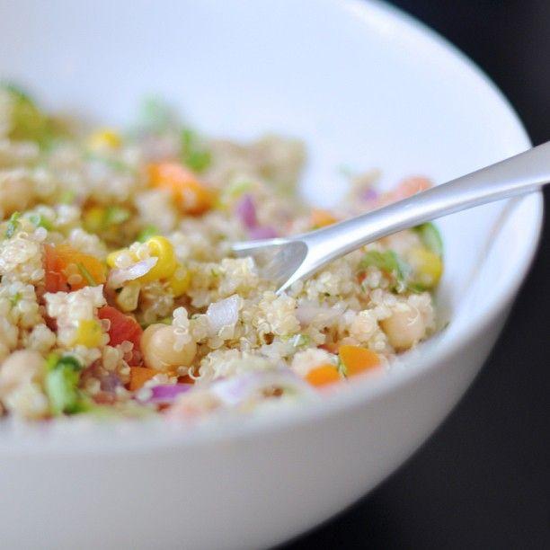 Quinoa with lemon/garlic vinaigrette