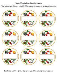 Free Printables Fruit Vege Jar Canning Labels Your Lifevents Lifestyle Etiquetas De Conservas Etiquetas Para Frascos De Conservas Etiquetas Para Frascos