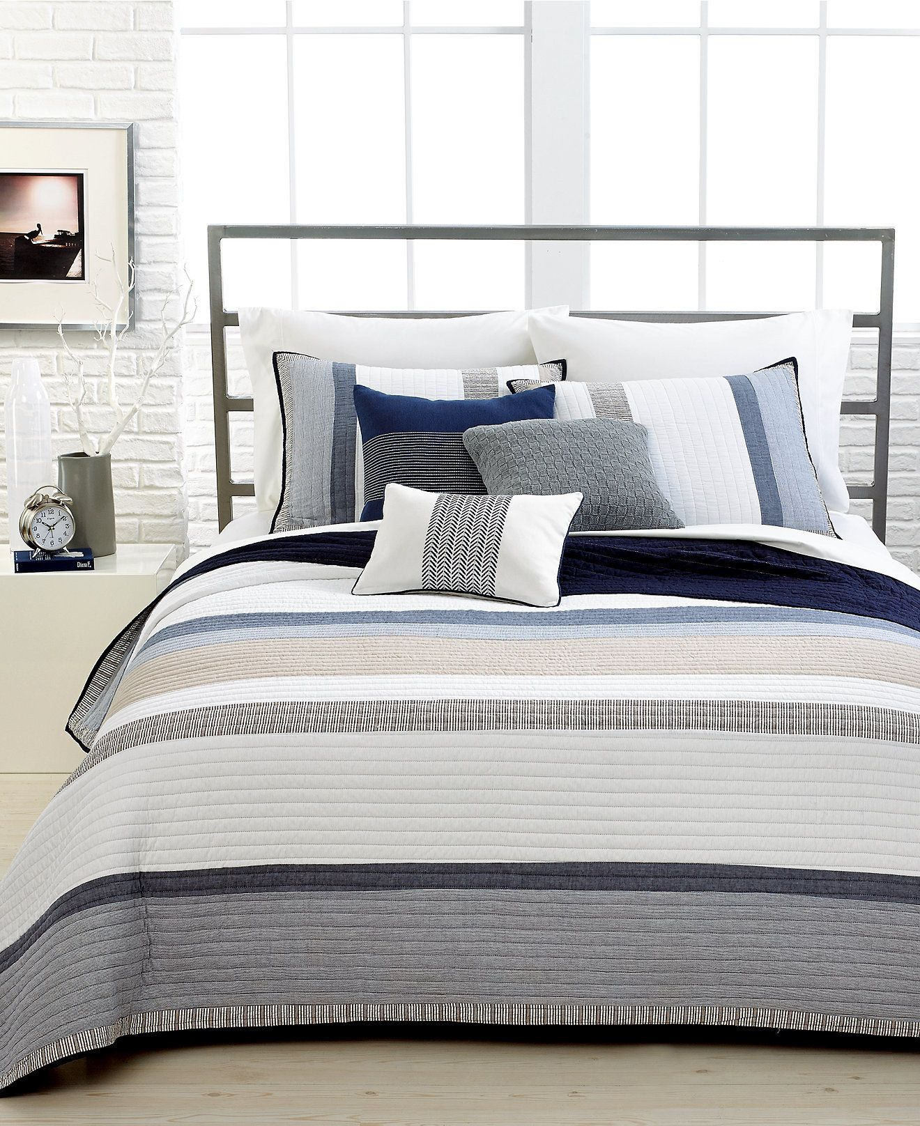 Amazing Nautica Tideway Cotton Quilt Collection