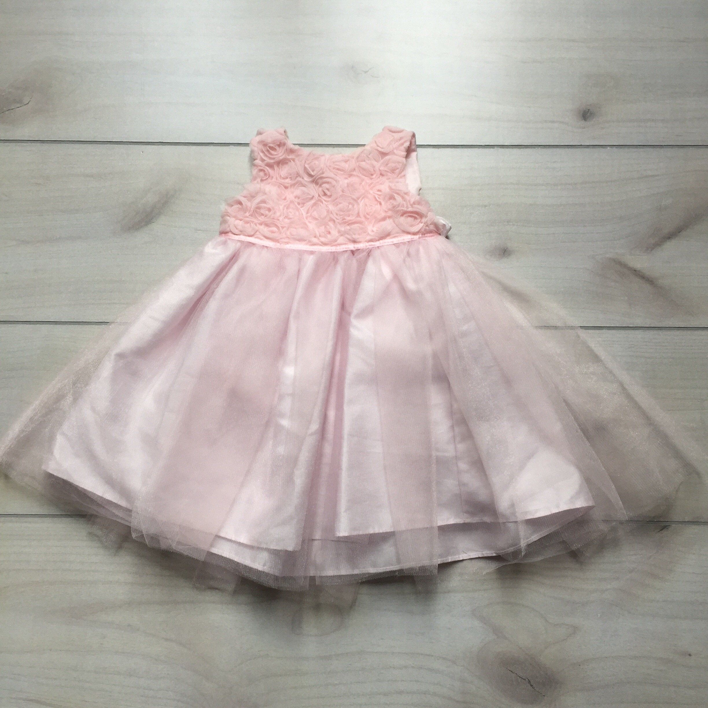 Marmellata Pink Rosette Shimmery Tulle Dress Products