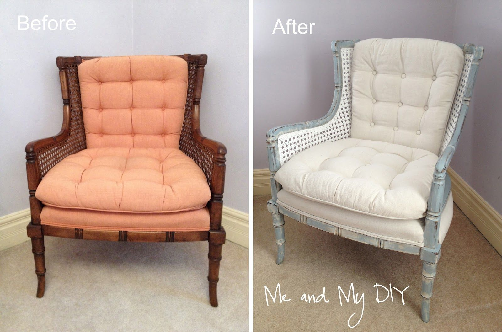 Craigslist chair makeover chair makeover upholstered