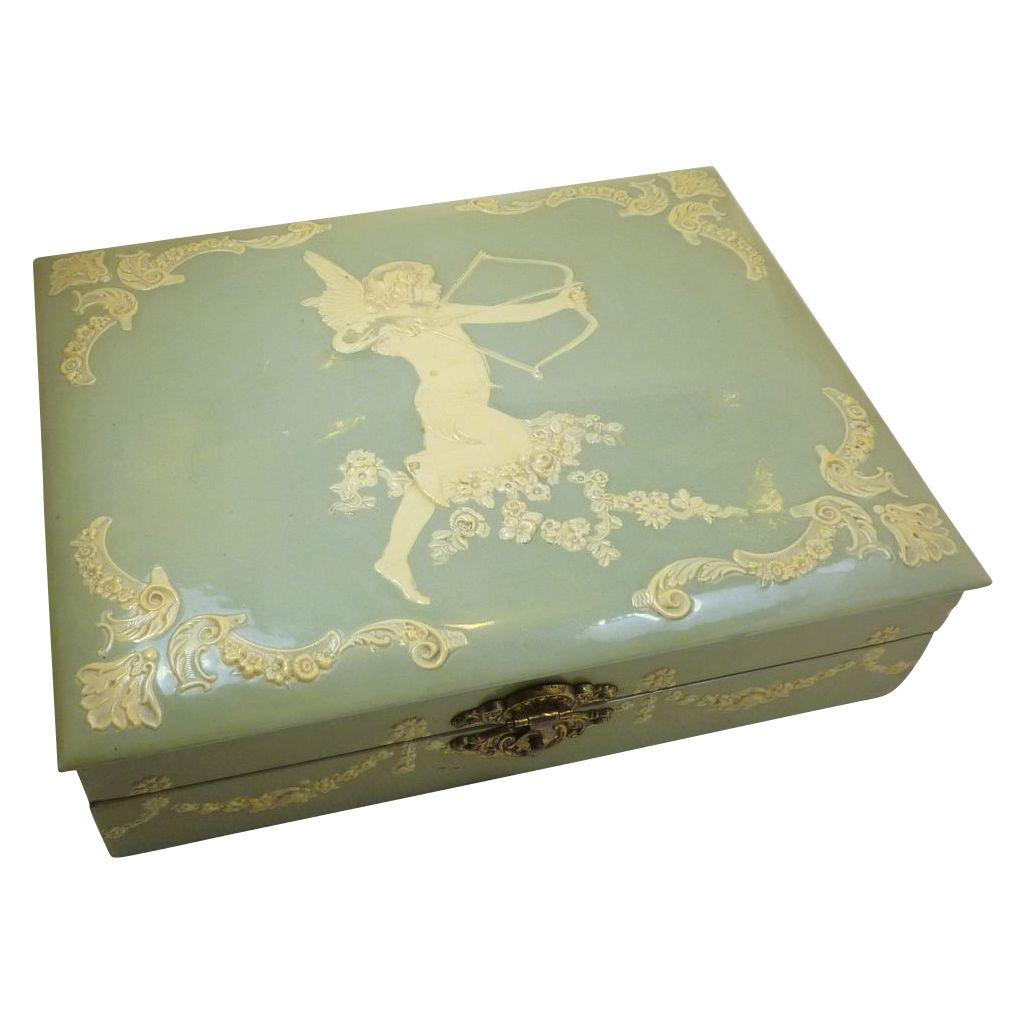 Celluloid jewelry box 1920s BakeliteCelluloidLucite Pinterest