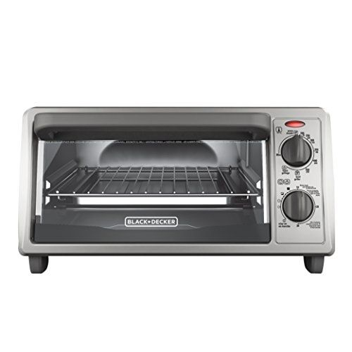 Blackdecker 4slice Countertop Toaster Oven Stainless Steel Silver