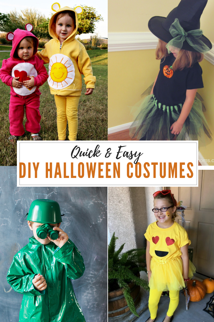 30 quick and easy diy halloween costumes for kids | holidays
