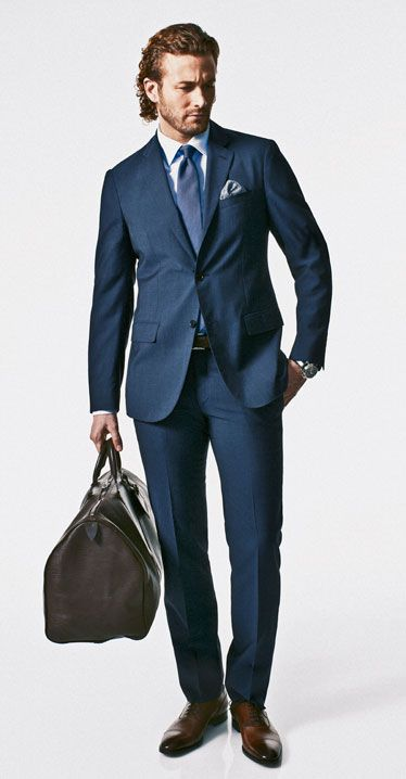 1000  images about Lookbook | Men's Blue Suits on Pinterest