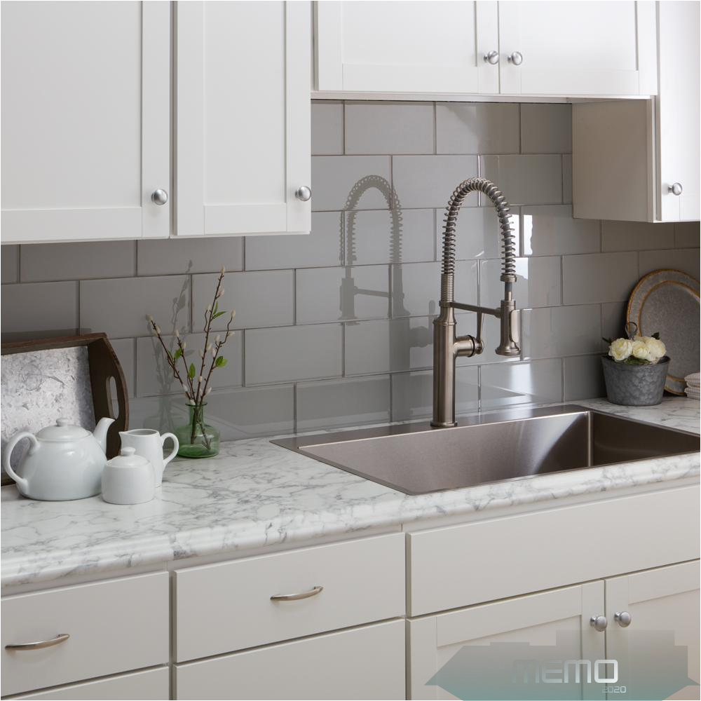 Jun 12 2020 Hampton Bay 8 Ft Laminate Countertop Kit In Marmo Bianco Marble With Valencia Edge 12337kt08 In 2020 Laminate Countertops Countertop Kit Kitchen Marble
