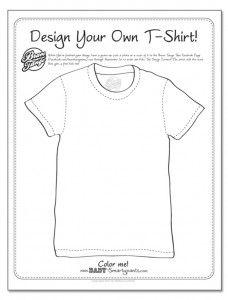Design-a-T-shirt-coloring-page | Classroom - life skills ...