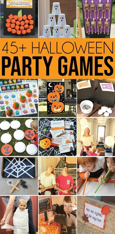 Over 45+ Awesome Halloween Games for All Ages #halloweenpartygamesforkids