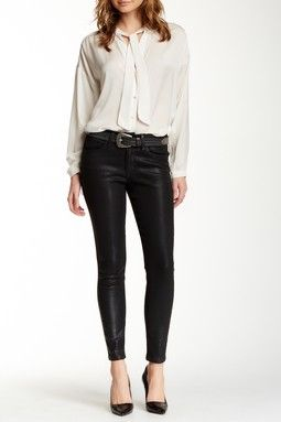 Coated Skinny Ankle Jean