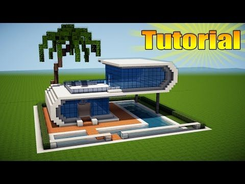 Minecraft How To Build A Realistic Modern House Best Mansion 2016 Tutorial Youtube Minecraft House Tutorials Minecraft Modern Modern Minecraft Houses