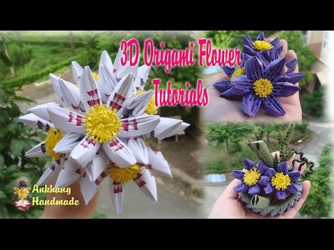 HOW TO MAKE 3D ORIGAMI SIMPLE FLOWER
