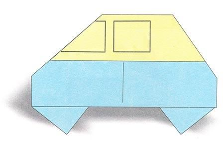 Creative Child Making Papercrafts Children Origami Car Easy
