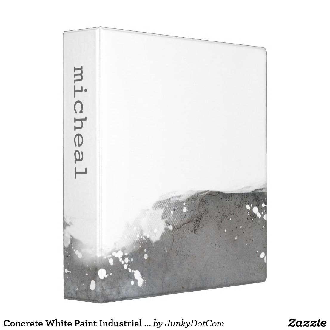 Concrete White Paint Industrial Design 3 Ring Binder Aug 4 2017