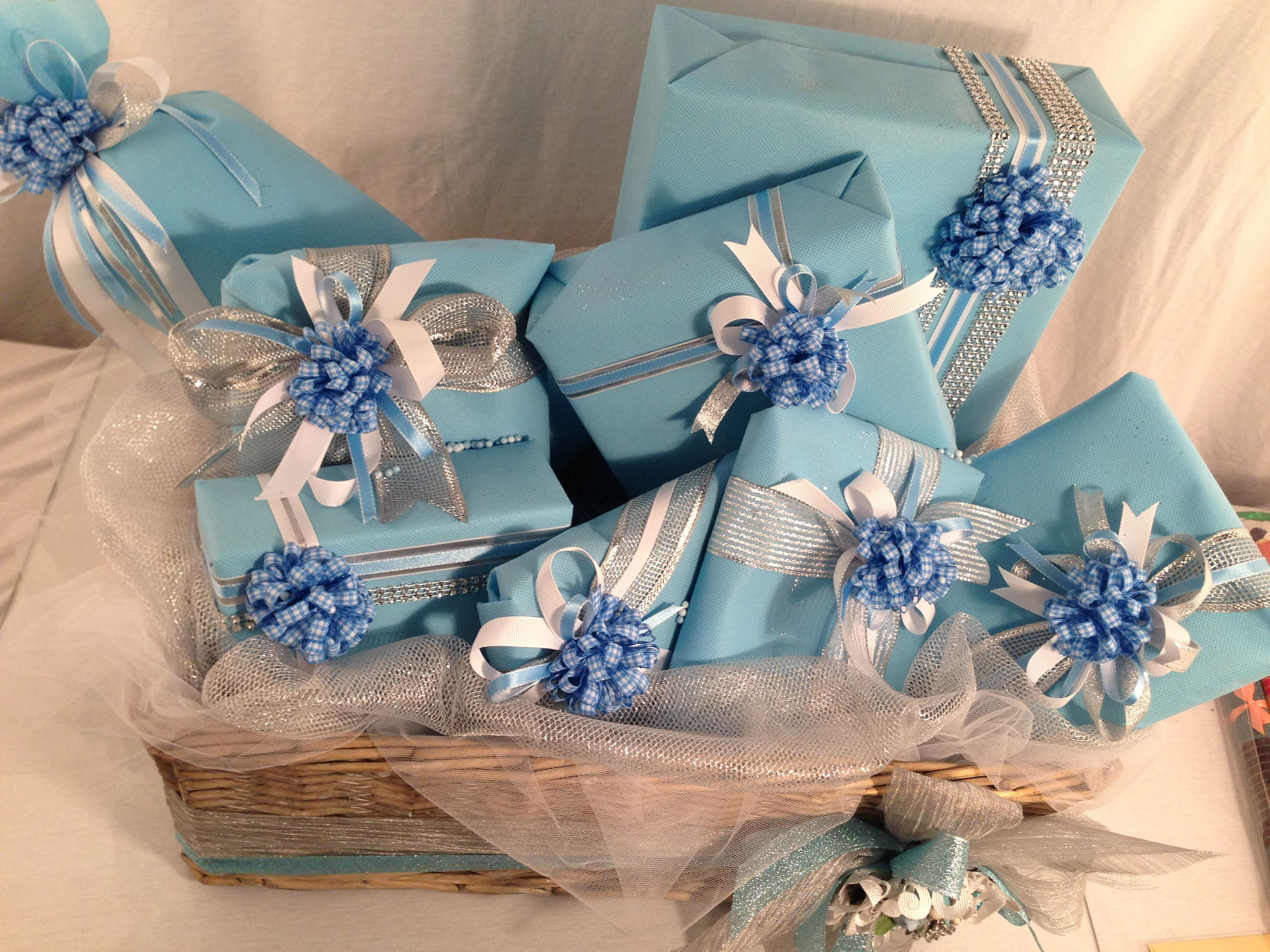 Baby Boy Gift Wrapping Wrap Decoration Pinterest Gift