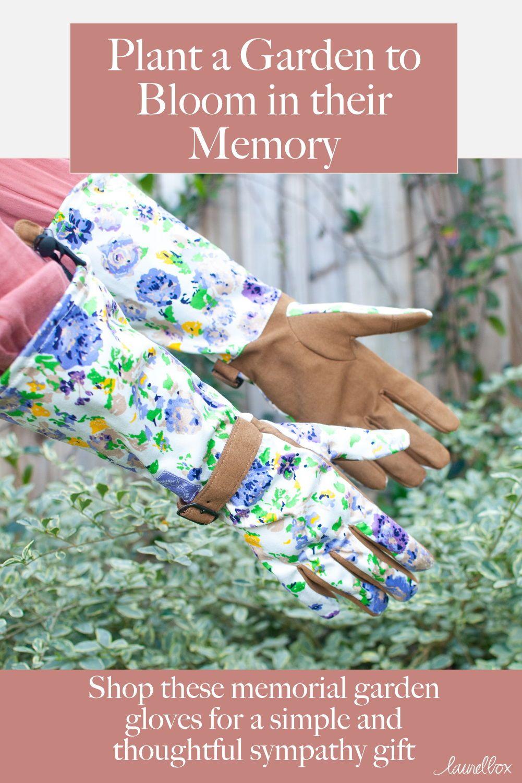 Floral garden gloves in 2020 gardening gloves sympathy