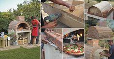 SUPER! Un plan et un album photo pour fabriquer son propre four à pizza! La…
