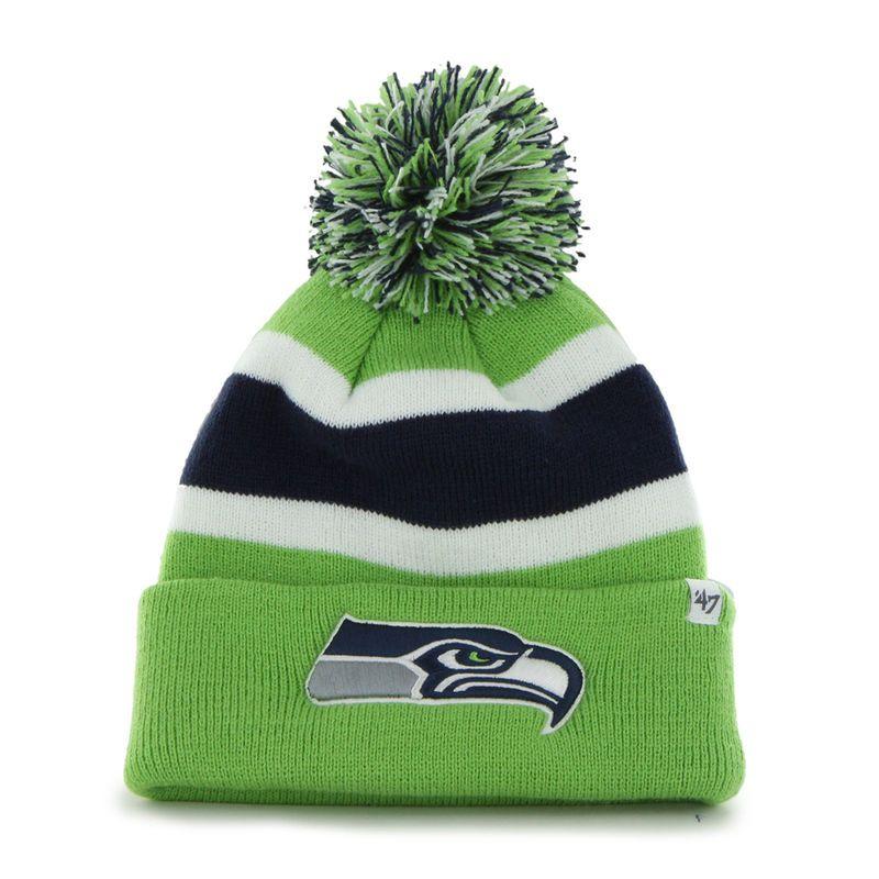 13fae9406 47 Brand Seattle Seahawks Breakaway Knit Beanie - Neon Green ...