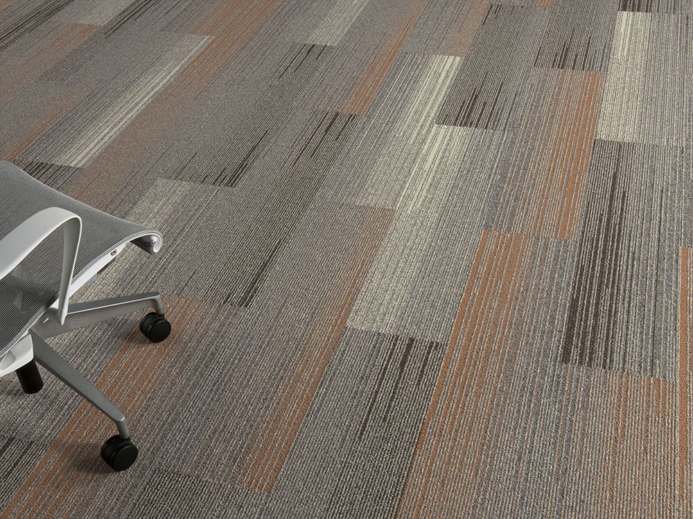 Silver Linings colorful skinny plank carpet tile collection by Interface
