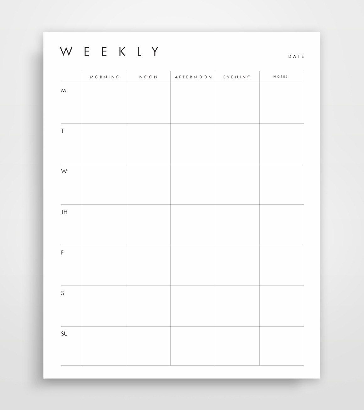 Minimalist Calendar Printable : Monthly planner business printables planning pages