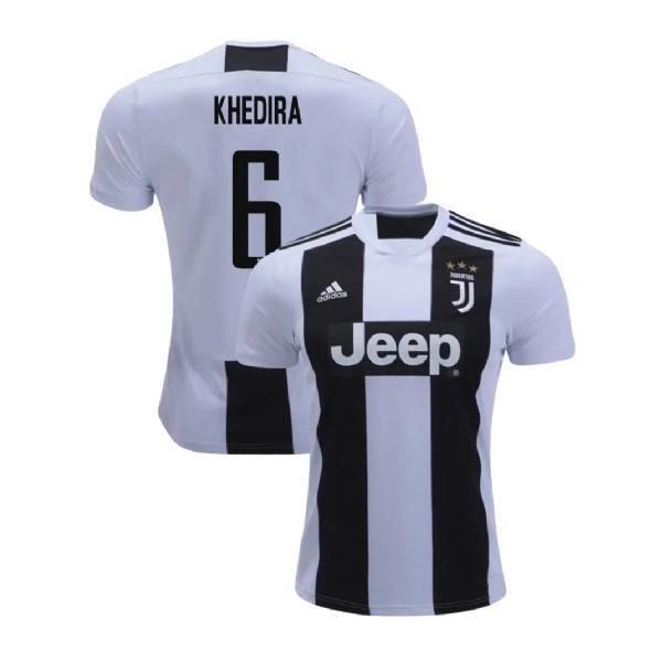 Men 6 Sami Khedira Jersey Home Soccer Juventus Jersey 2019 Serie A Nreball Soccer Jersey Ronaldo Jersey Jersey
