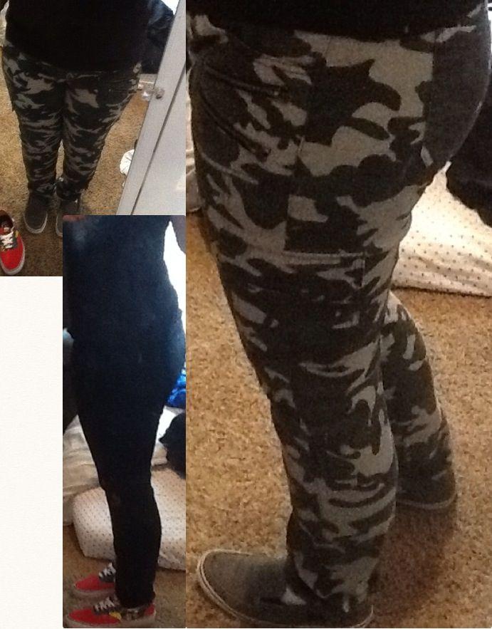 My new SKINNYS skinnies skinny jeans hehe camouflage and black :3 I'm happy