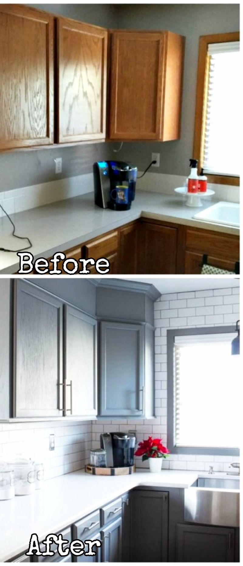 Small Kitchen Remodels Before and After PICTURES To Drool ...