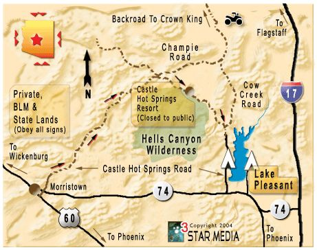 Map Of Arizona Hot Springs.Castle Hot Springs Jeep Life Jeep Trails Trail Hot Springs