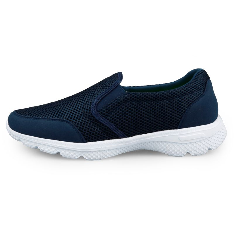 31183fe0407 Comfortable Elevator Mesh Shoes Taller Beach Loafers Navy Walking ...