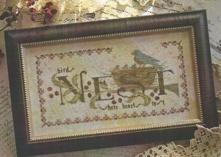 Spring Delivery With Thy Needle Thread Primitive Cross Stitch Pattern