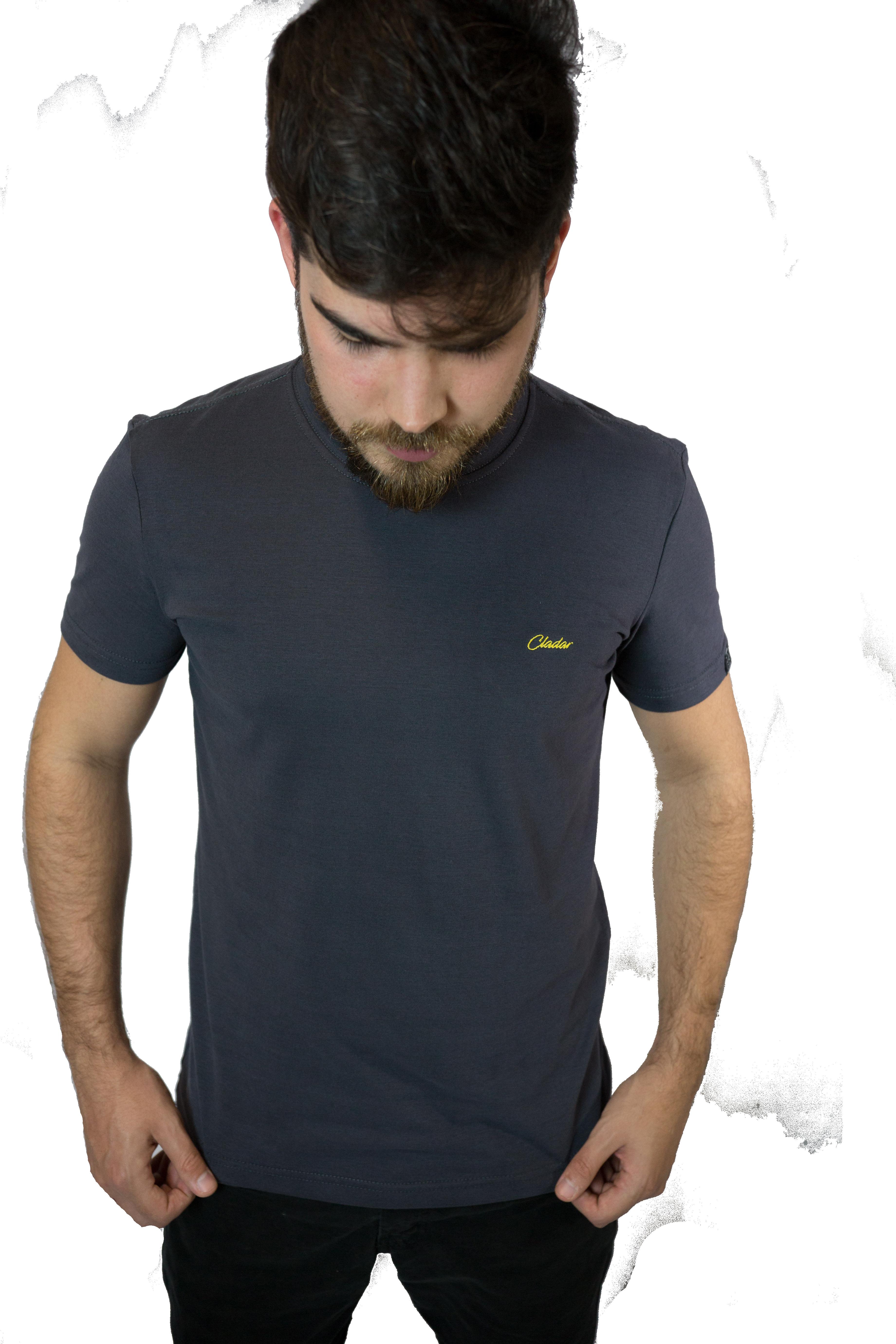 A Camiseta Masculina Cladar Básica Cinza Chumbo 812e54ec1059b