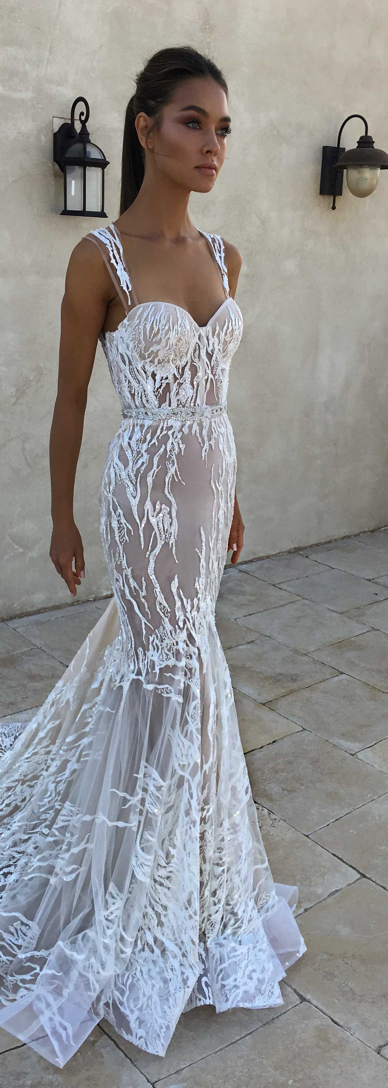 Wedding dress with color  Really really extraordinary wedding dress color and lace  For