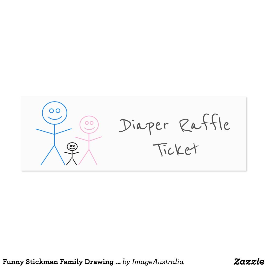 funny stickman family drawing diaper raffle ticket diaper raffle funny stickman family drawing diaper raffle ticket mini business card