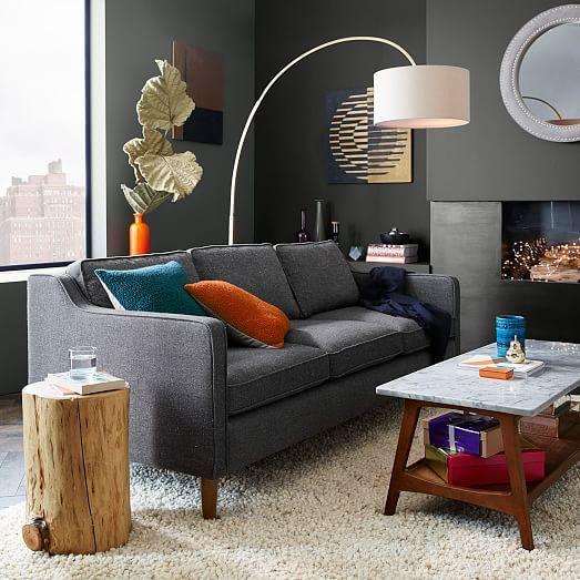 Reeve Mid Century Rectangular Coffee Table Hamilton Sofa