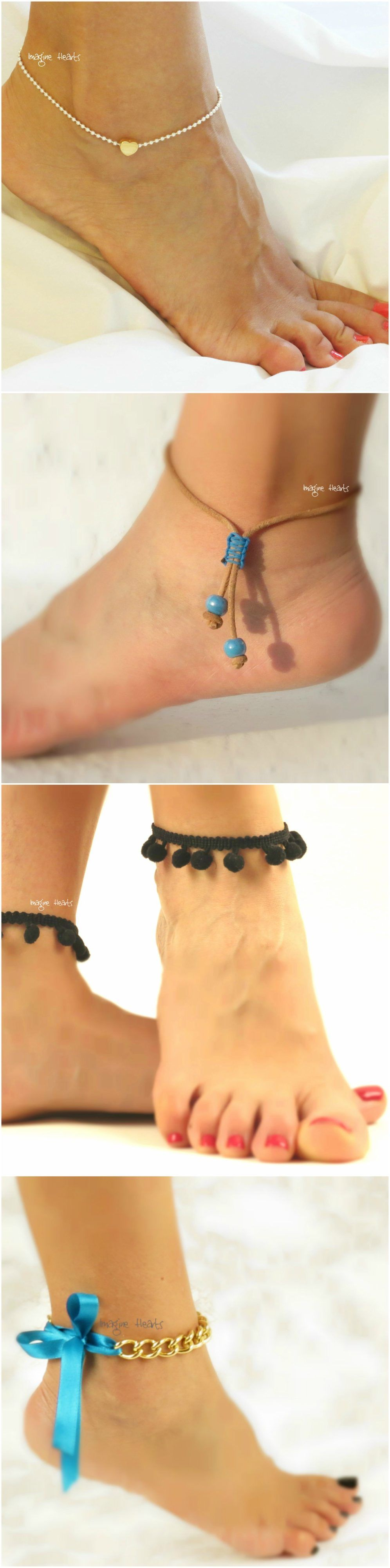 oblacoder ankle beaded women anklet toe for simple bracelet bracelets beads beautiful