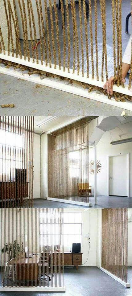 Pin By Marlene De Lange On Soga Y Tela De Saco Home Decor Tips Diy Room Divider Room Diy