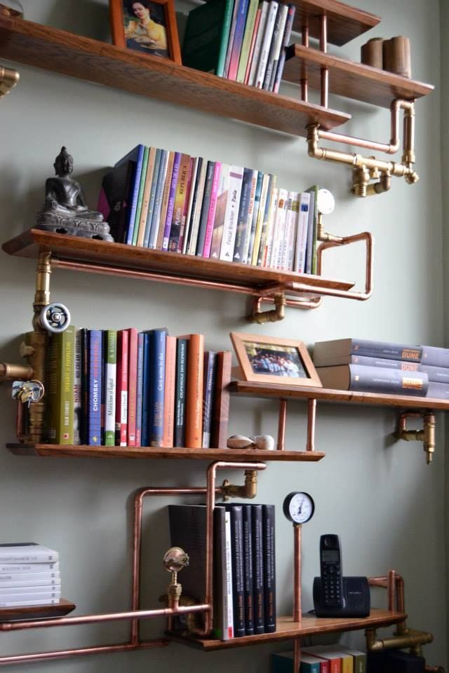 steampunktendencies shelves by everwoodstudio shelves bookshelf