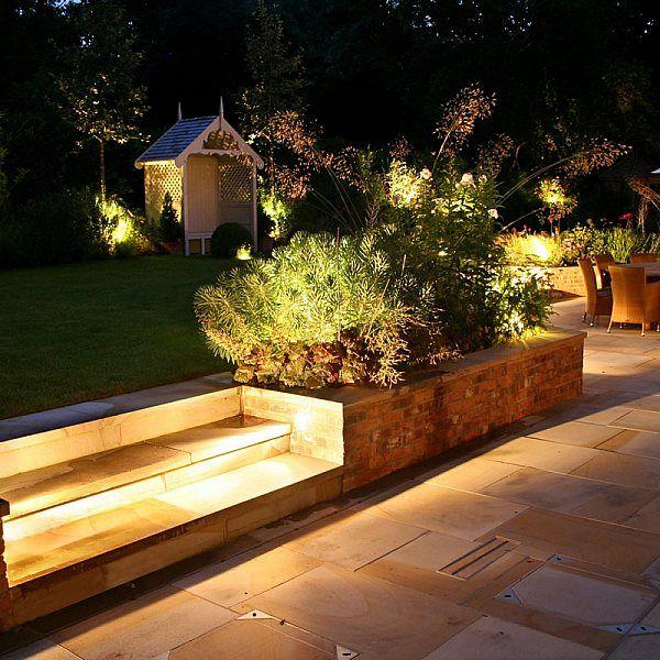 Romantic elegant terrace contemporary garden with ...