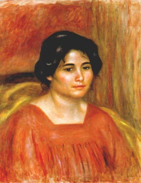 Pierre-Auguste Renoir Gabrielle in a Red Blouse