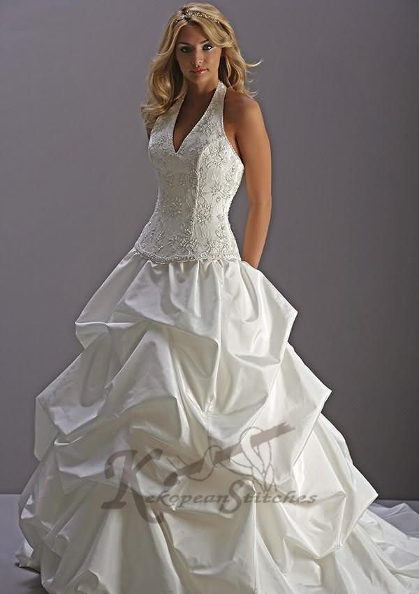 WEDDING DRESS HALTER