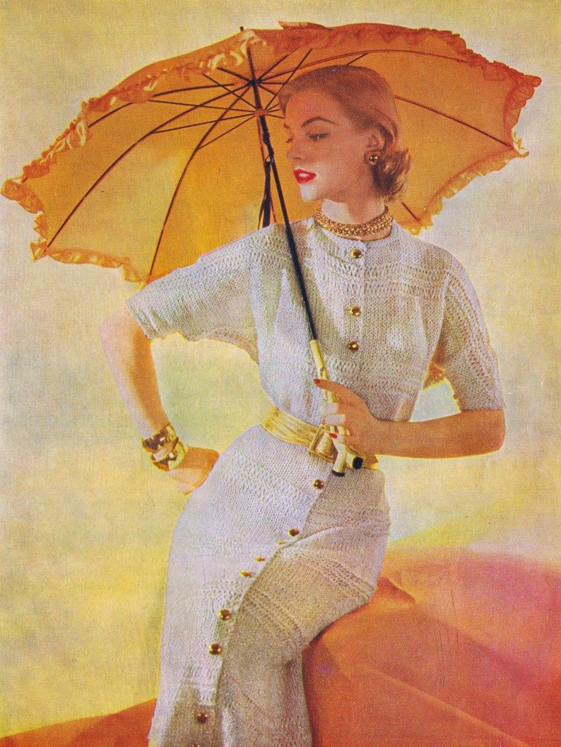 Vintage Knitting Crochet PDF Patterns Suits Dresses Jackets | Etsy