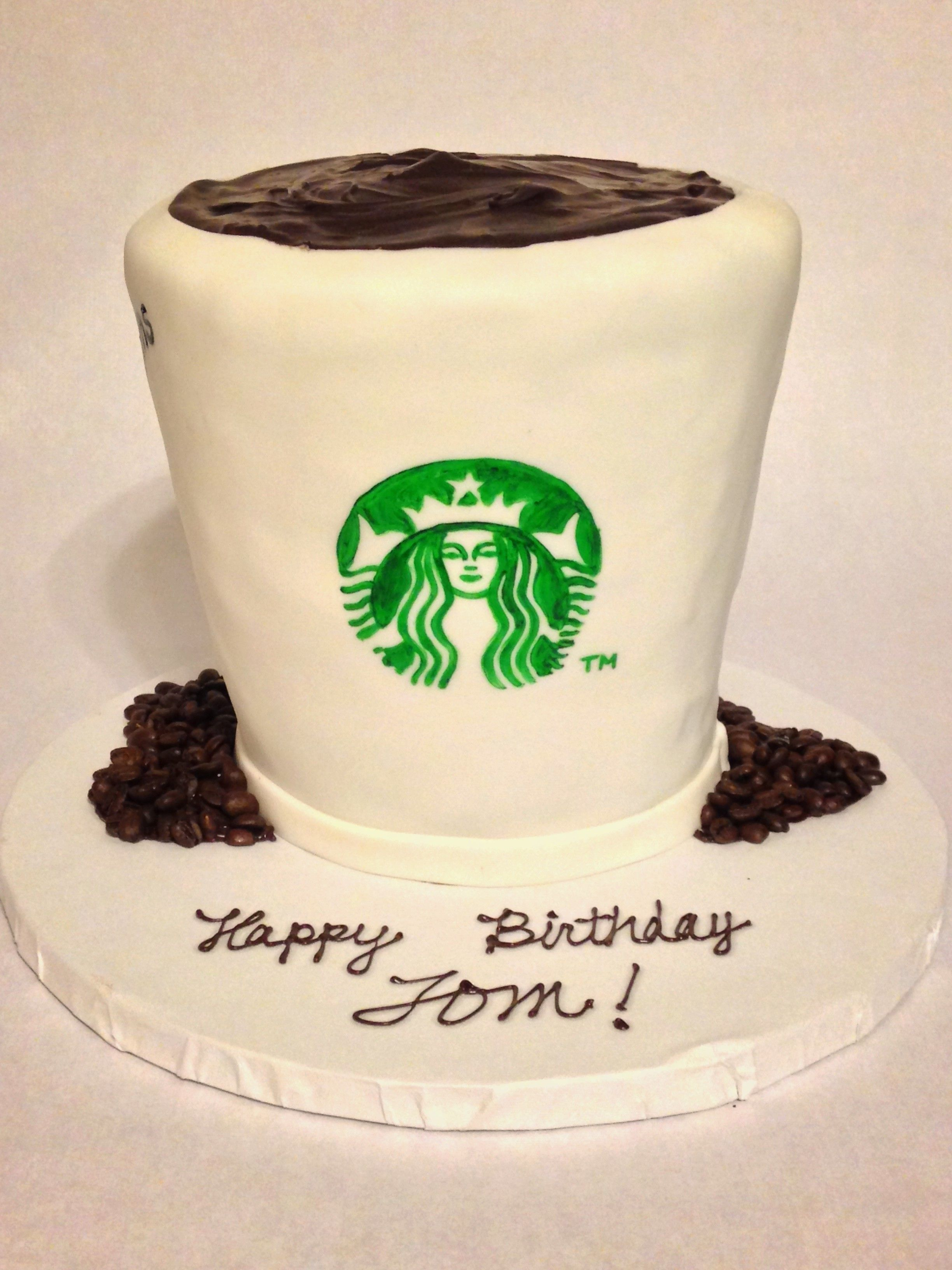 Starbucks Coffee Cake, Coffee Lover, Birthday Cake, 40Th Birthday Party