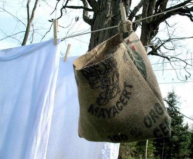 burlap peg bag diy by mayalu, via Flickr | inspiration | Pinterest