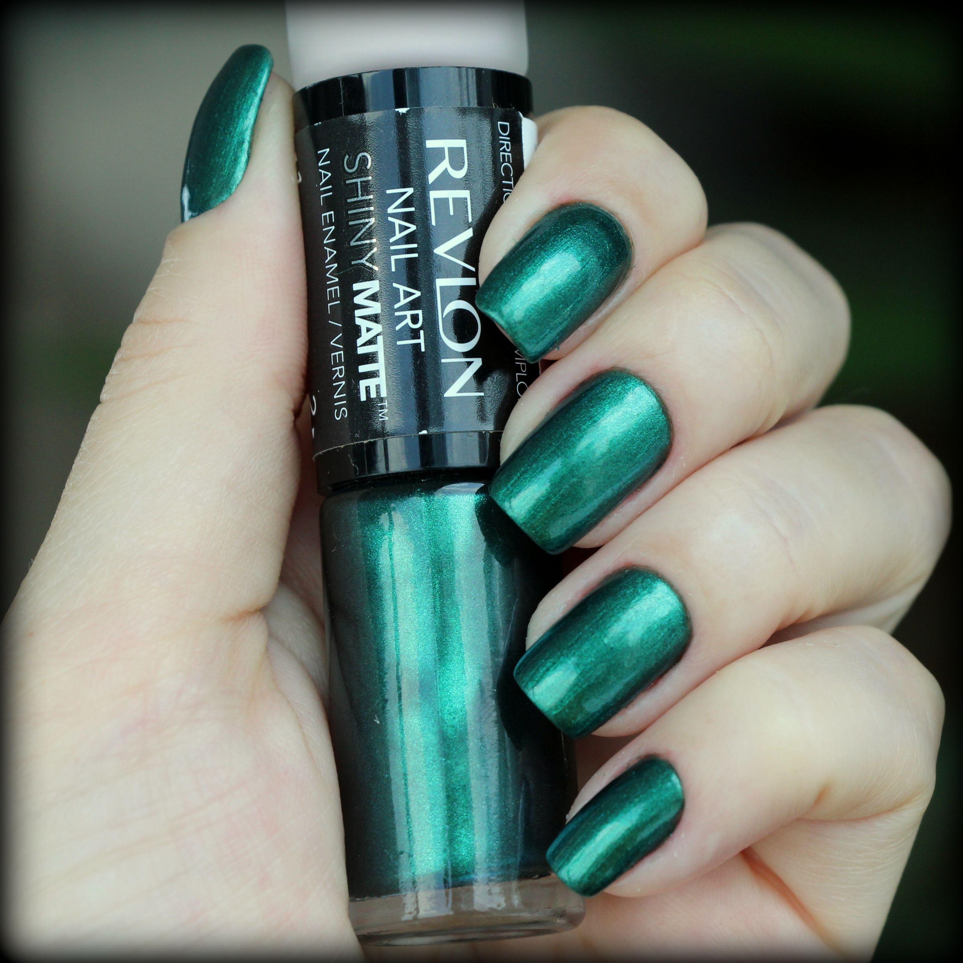 Revlon Nail Art Shinymatte In Emeraldsuede 479 Got Mine At