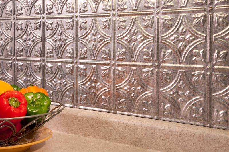 Fasade tin tile backsplash Beadboard backsplash