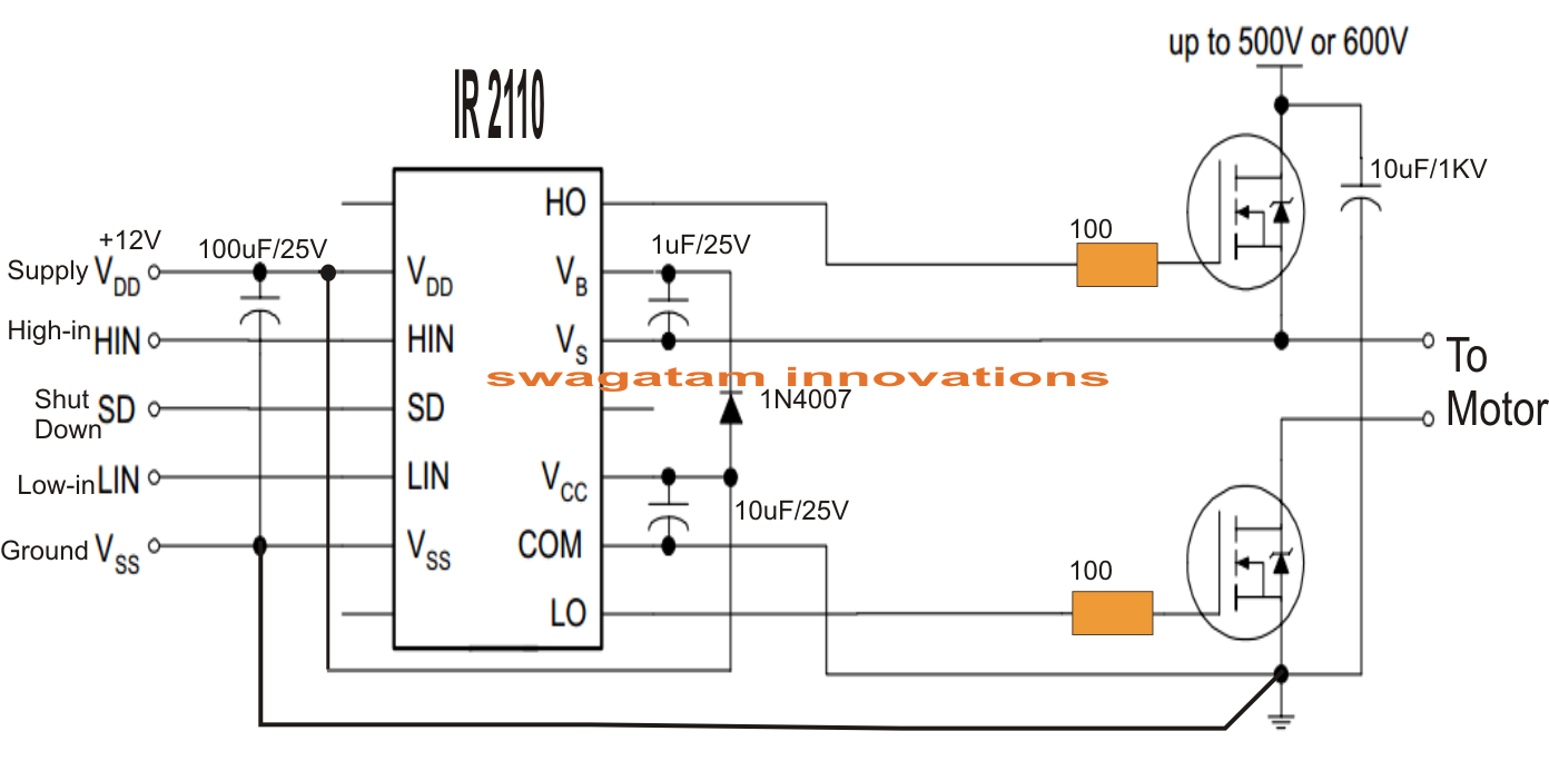 Electronic Circuit Projects: Single Phase Variable Frequency ... on