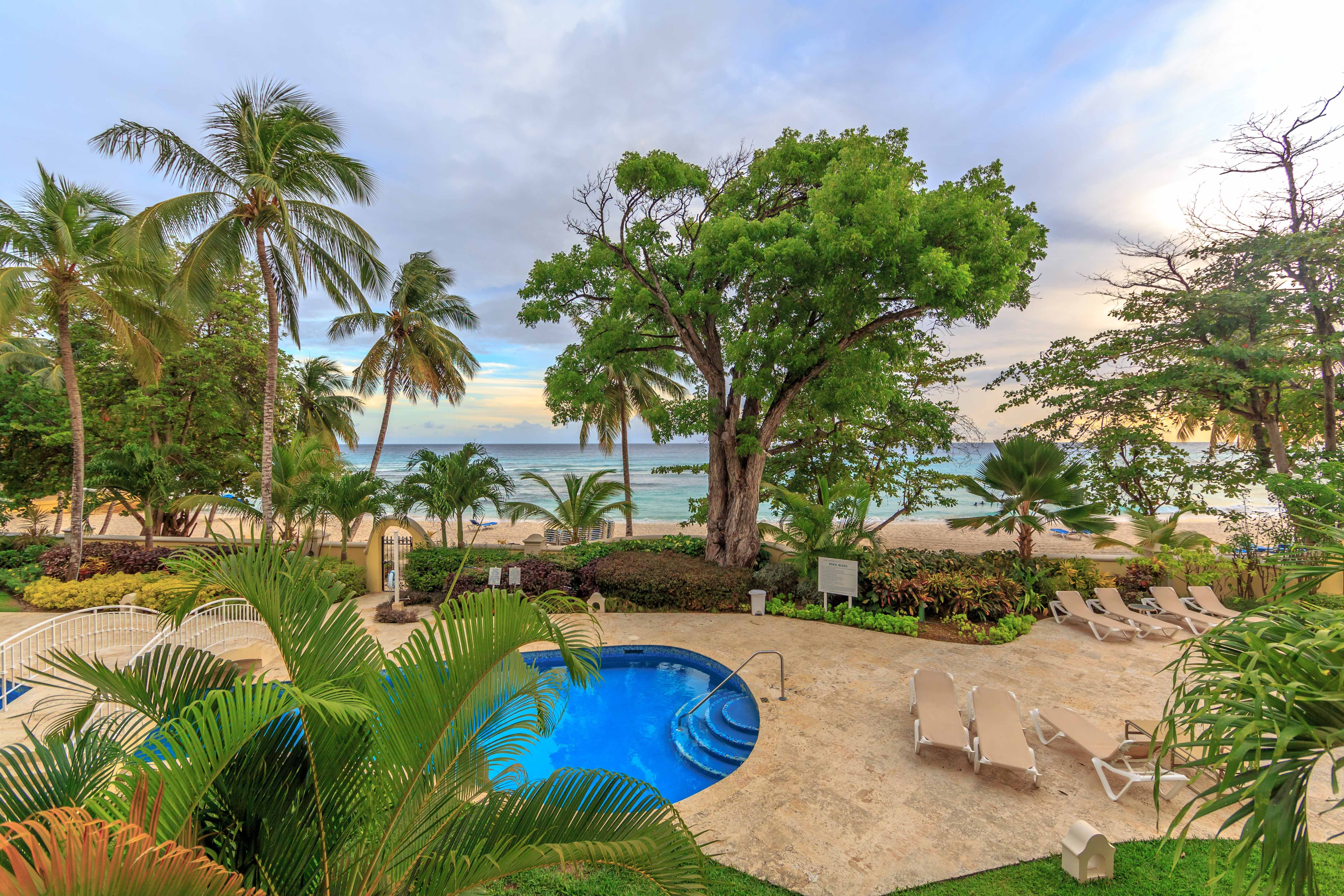 Sapphire Beach Unit 111 (Duplex) - Upstairs Patio View - Located in ...