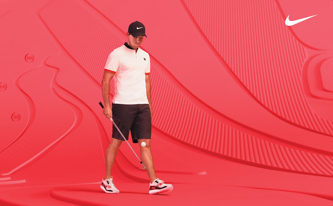 7846105a96d3f Campaign featuring Rory McIlroy and Michelle Wie for the Nike Golf Club  Collection   Air Zoom