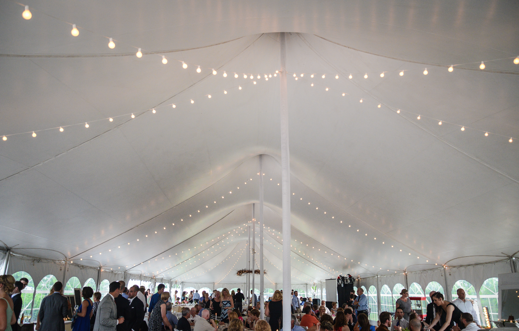 The big tent looks magically wonderful as your wedding reception begins! Photography by The Photosapien & The big tent looks magically wonderful as your wedding reception ...