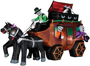 inflatable halloween decorations outdoor inflatable haunted wild stagecoach